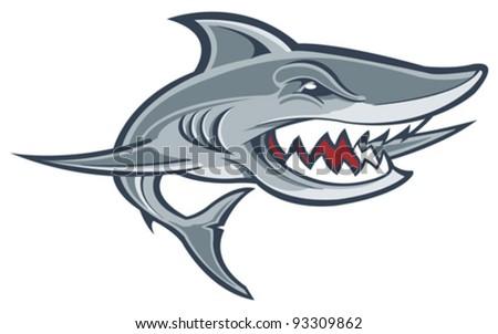 Shark swimming - stock vector