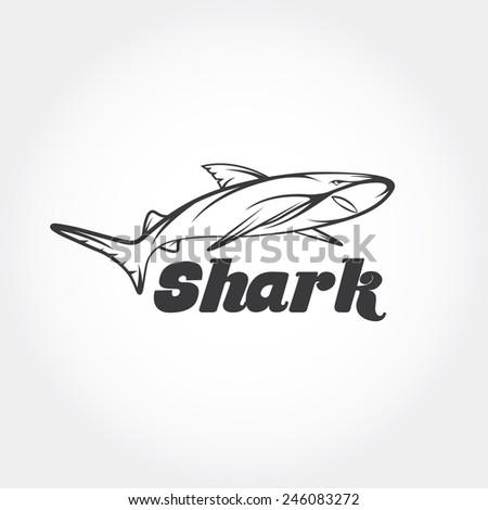 shark vector design template - stock vector