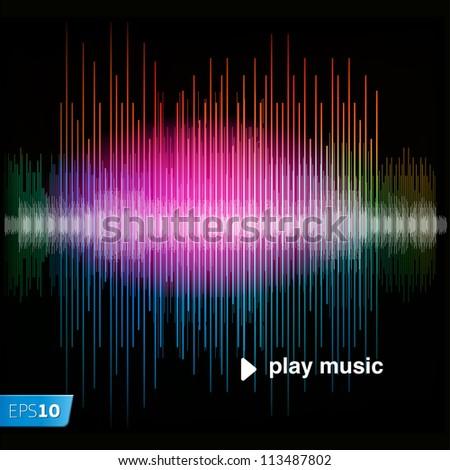 Sharp colorful waveform, vector Eps10 illustration. - stock vector