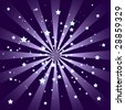 Sharp Purple Starburst with Stars - stock vector