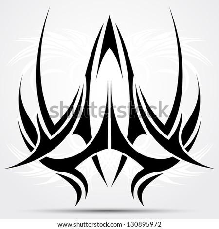 Sharp tribal tattoo - stock vector