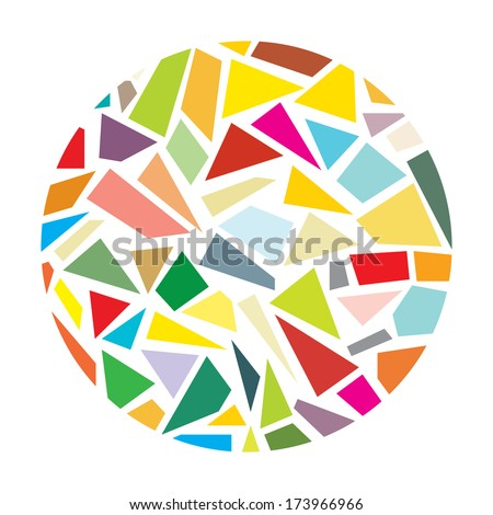 Shattered glass round vector - stock vector