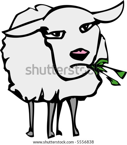 Sheep - stock vector