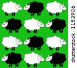 sheep background - stock photo