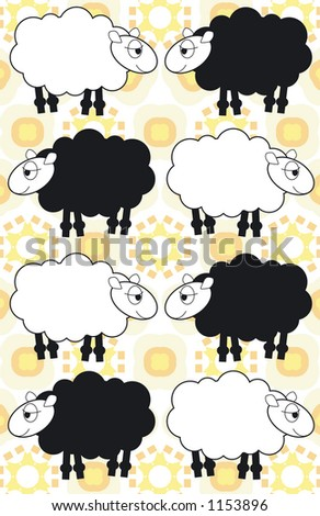 sheep background - stock vector