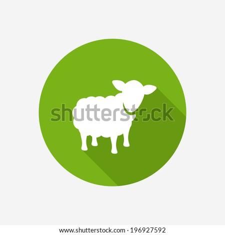 Sheep icon - stock vector