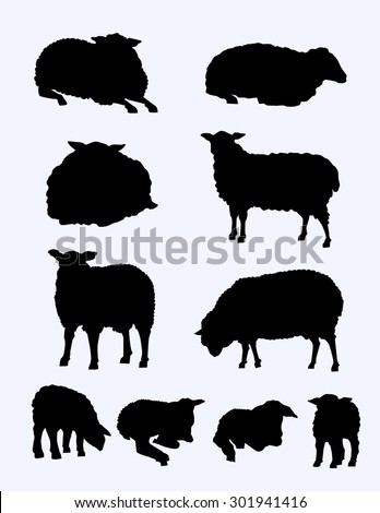 Lamb Silhouette Stock Vectors & Vector Clip Art | Shutterstock