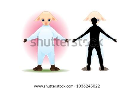 Desien | Sheep Mascot Desien Stock Vector 1036245022 Shutterstock