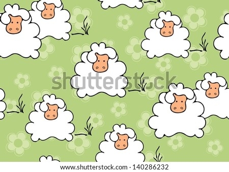 sheep seamless background
