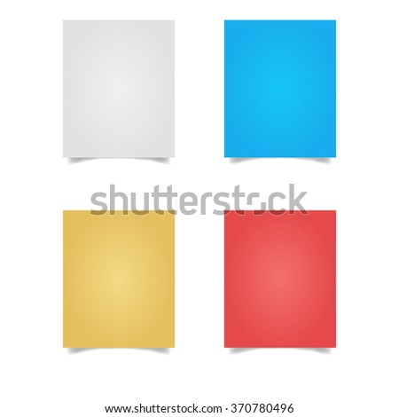 sheet of paper from a notebook. - stock vector