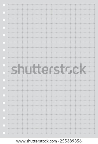 Sheet Paper Grid Notebook Graph Style Stock Vector