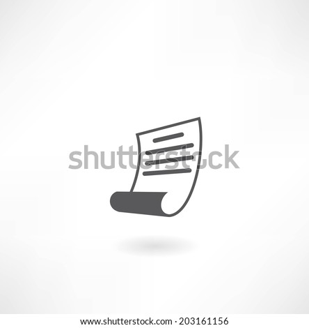 sheet of paper icon - stock vector