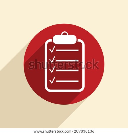 sheet of paper on the tablet. - stock vector