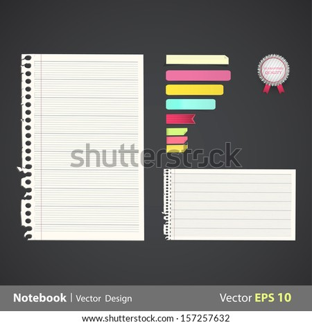 Sheet of sheets with linen. Vector design.  - stock vector
