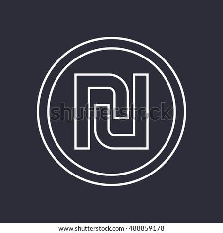 Shekel Israeli Money Symbol Linear Pictogram Stock Vector 488859178