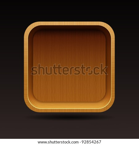 shelf icon - stock vector