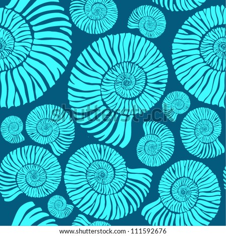 shell pattern - stock vector
