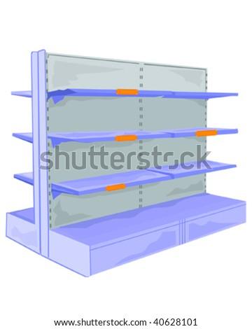 Shelves - stock vector