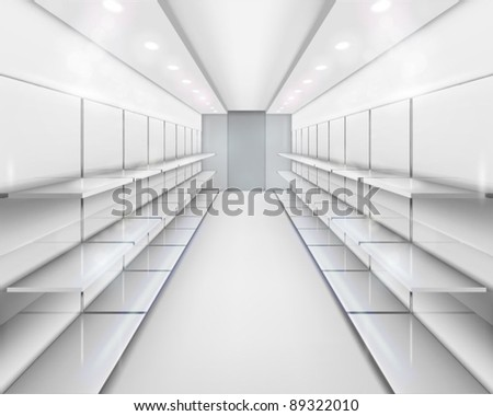 Shelves. Vector illustration. - stock vector
