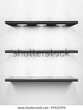 Shelves with place for your exhibits, vector illustration, eps10, 2 layers, easy editable