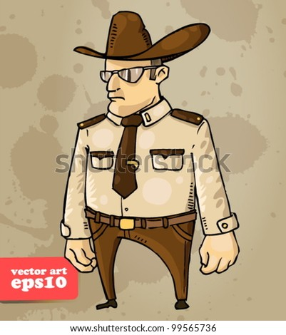 sheriff - stock vector