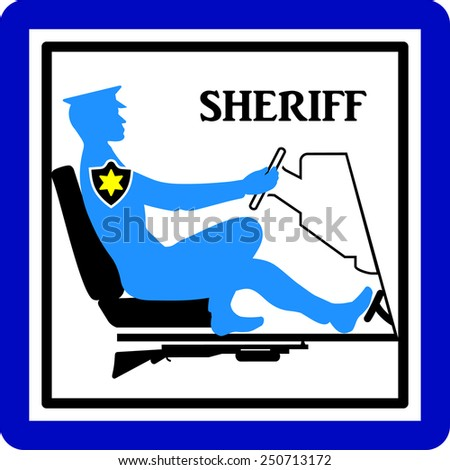 Sheriff, sign or icon - stock vector