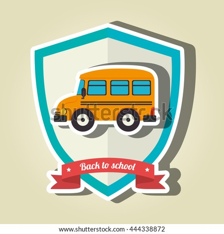 shield back to school design, vector illustration eps10 graphic