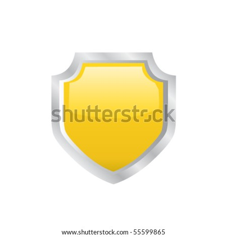 Shield icon. Vector - stock vector