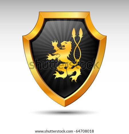 Shield on a white background. - stock vector