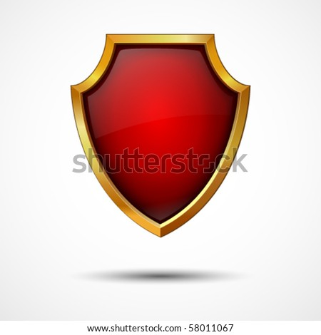 Shield on a white background. Vector icon. - stock vector