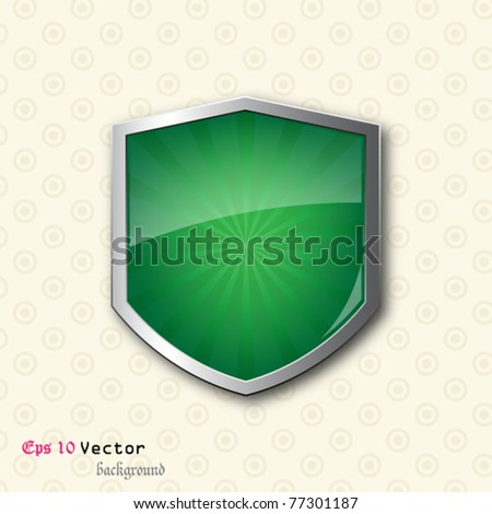 Shield on vintage background - stock vector
