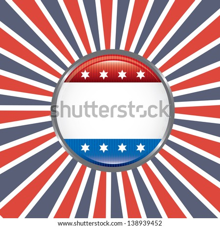 shield patriot over flag background vector illustration - stock vector