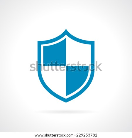 Shield protection icon - stock vector