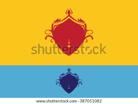 Shield vintage flat logo vector - stock vector
