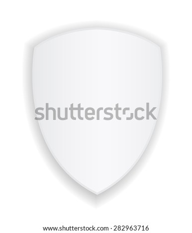 shield white icon design - stock vector