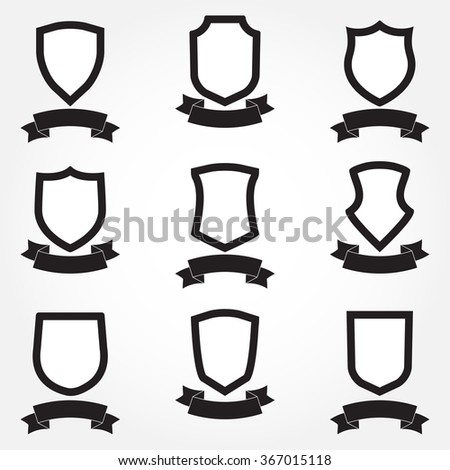 shields icon set different shield shapes stock vector hd royalty rh shutterstock com vector shield shape vector shields free download