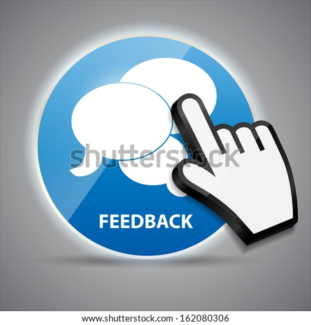 Shine glossy computer icon feedback with mouse hand cursors vector illustration - stock vector