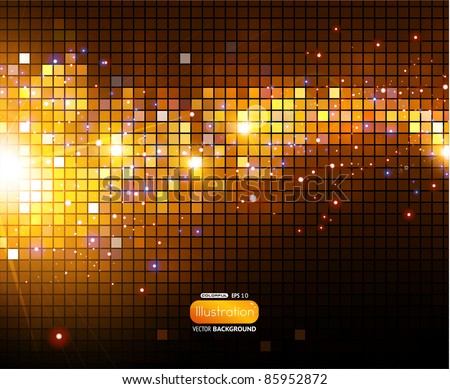 Shine mosaic background - stock vector