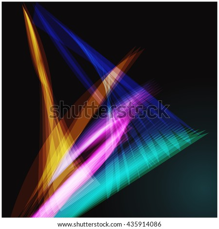 Shine wallpaper trail vibrant sparkle vivid flow power glowing concept line flash vector magic bright rays light graphic digital glow blurred smooth shape abstract wave dark flowing modern energy  - stock vector