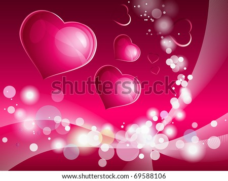 Shining hearts composition for Valentine's day. Eps10. - stock vector