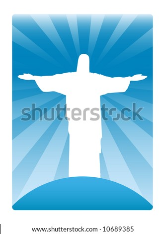 Shining image of Jesus Christ - stock vector