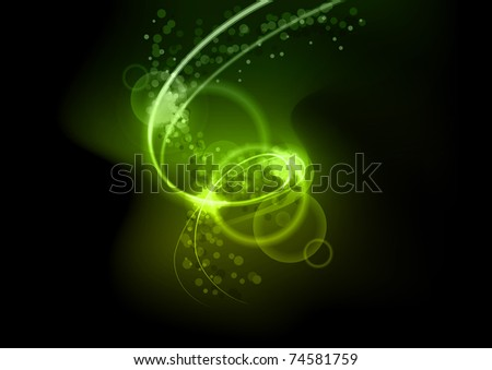 Shining light on the black - stock vector