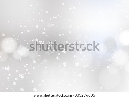 Shining snow Blur Christmas Backdrop. Vector illustration - stock vector