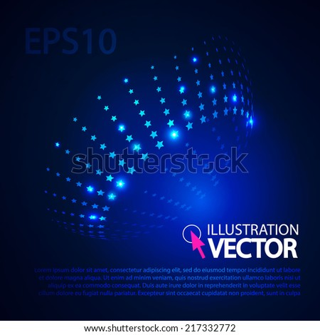 Shining stars abstract background for your business presentation. Vector illustration - stock vector