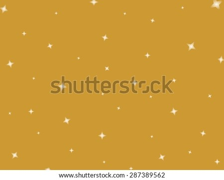 Shining stars on a golden background - stock vector