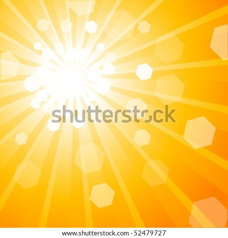 Shiny Abstract Background Orange - stock vector