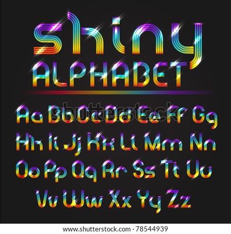 Shiny Alphabet - stock vector