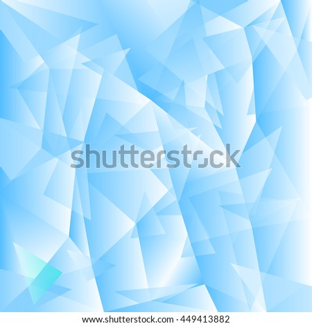 Shiny Background made with Triangles. Low poly style vector back - stock vector
