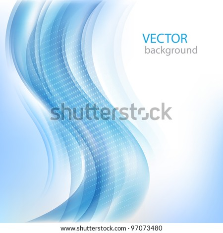 Shiny business background with blue wave.Vector eps10 - stock vector