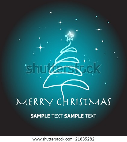 Shiny Christmas Tree. Template. For More Vectors VISIT MY GALLERY. - stock vector